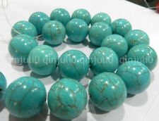 14mm Turquoise Round Gemstone Loose Beads 15''