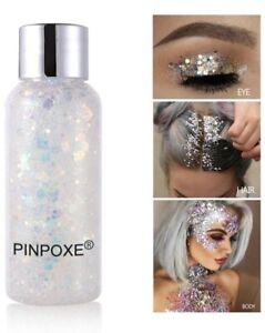 Pinpoxe Glitter Body Gel For Face Body Hair Nails 1.05 fl oz. NEW