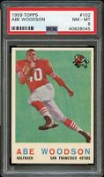 1959 Topps FB Card #102 Abe Woodson 49ers ROOKIE CARD PSA NM-MT 8 !!!