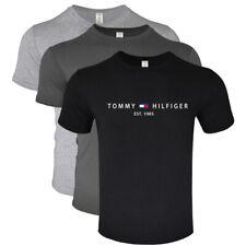 2020 Tommy 3er Pack Rundhals-Baumwoll-T-Shirt Herren Kurzarm Top Shirt Sommer