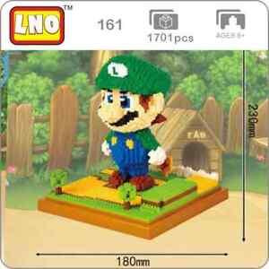 Luigi Super Mario Brothers Nintendo Nanoblock 3D Puzzle Toy Micro Block 1701 Pcs