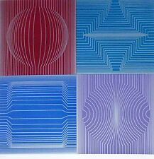 "VICTOR VASARELY "" TOKYO "" 1982 HAND SIGNED op art HTF! Limited Edition serigraph"