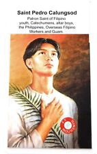 Saint Pedro Calungsod relic card,patron of Filipino, Guam, Catechumens, Workers