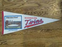 """Vintage MLB Minnesota Twins Metrodome Felt Pennant 1982 """"A Metrodome future!"""""""