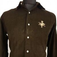 Polo Ralph Lauren Mens Vintage Corduroy Shirt LARGE Long Sleeve Brown Classic