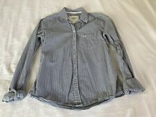 A&F Abercrombie & Fitch New York Striped Shirt For Woman's Size Small Navy