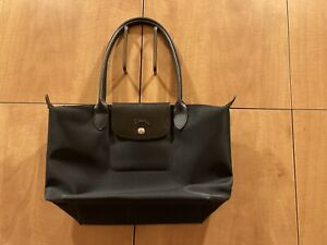 Longchamp Le Pliage Neo Small Nylon Tote in Black