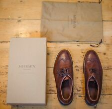 Meermin Brown Country Calf UK 8.5 Brogues Goodyear welted BNIB new