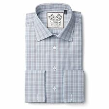 Checked Double Cuff Formal Shirts for Men Thomas Pink