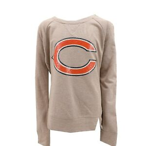 Chicago Bears Official NFL Teen Apparel Girls Sequin Light Sweatshirt New Tags