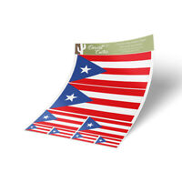Puerto Rico Flag Sticker Decal Variety Size Pack 8 Total Pieces