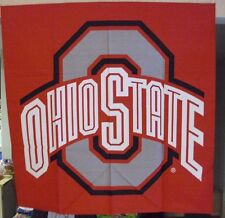 "OHIO STATE BUCKEYES GIANT BANDANNA 35""x35"" BANDANA FLAG ALUMNI PARTY CLOTH NISP"