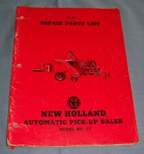 New Holland Automatic Pick-Up Baler No. 77 Repair Parts List - C2659
