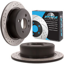 REAR GROOVED DRILLED 258mm BRAKE DISCS FOR BMW 3 SERIES E30 SALOON COUPE TOURING