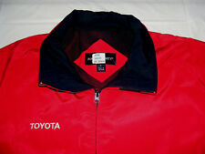 Toyota Embroidered Red Zipper Front Lined Winter Jacket Large Port Authority