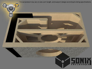 STAGE 3 - PORTED SUBWOOFER MDF ENCLOSURE FOR RE AUDIO XXX V2 12 SUB BOX
