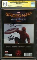 Marvel's Spider-Man: Homecoming Prelude #1 CGC 9.8 SS 2x STAN LEE & TODD NAUCK