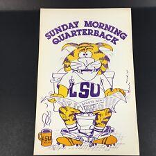 "VTG LSU Tigers Football ""Sunday Morning Quarterback"" poster"