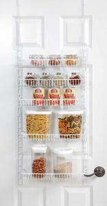 NEW Smart Design Over The Door Adjustable Pantry Organizer Rack Adjustable Shelf
