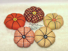 Thanksgiving Bowl Fillers Set Orange Black Fabric Pumpkins Fall Farmhous Decor