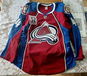 "Colorado Avalanche ""Adam Foote Night"" game issued jersey player #4 Tyson Barrie"