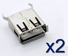 2x Connecteur à souder USB type A Femelle/ 2x Female USB type A solder connector