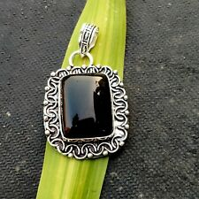 Black Onyx Gemstone 925 Silver Pendants Handmade Jewelry HO374