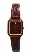 Pedre Women's Vintage 1980's Petite Gold-Tone and Burgundy Watch 6988GX. Mint!