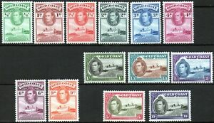 Gold Coast 1938 KGVI set of 13 mint stamps value to 10s Mounted Mint