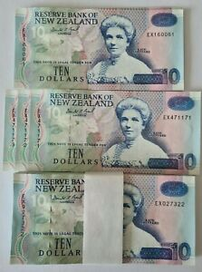NEW ZEALAND 10 DOLLARS  1997 Type V EX Prefix P182b BRASH  UNC