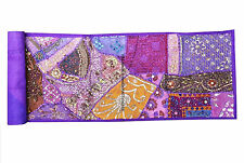 HANDMADE VINTAGE TAPESTRY BOHEMIAN PATCHWORK RUNNER WALL HANGING EMBROIDERED ART