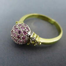 Women's Ring With Tourmaline And Zirconia IN Gold