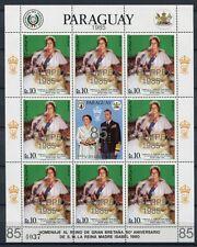PARAGUAY 1985 Königinmutter Queen Mum INTERPEX Royalty 3845 Kleinbogen ** MNH