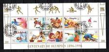 JO été Mongolie (19) série complète de 9 timbres oblitérés