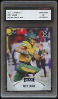 TREY LANCE 2021 / 21 LEAF DRAFT 1ST GRADED 10 ROOKIE CARD RC NORTH DAKOTA STATE