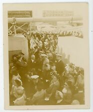 USS Admiral W. S. Sims AP-127 comm day Detroit ship   Vintages snapshot photo #1