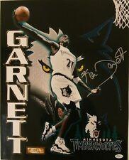 "Kevin Garnett Basketball Rookie Autographed 16"" x 20"" Photo - JSA Authenticated"