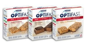 OPTIFAST® BARS   CHOCOLATE, APPLE CINNAMON, or PEANUT BUTTER   4 BOXES   FRESH
