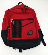 Pike Sport Basecamp Red Black Bottom Backpack Book Bag Zipper Adjustable Straps
