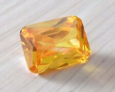 8x10mm Unheated 4.07ct AAAAA Yellow Sapphire Diamonds Cut Emerald VVS Loose Gems