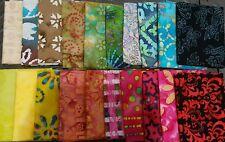 Lot of 20 fat quarters, No Duplicates, 100% BATIK Cotton Quilting Fabric, #C2