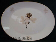 """ROSENTHAL china SHADOW ROSE pattern OVAL MEAT Serving PLATTER 15-3/8"""""""""""