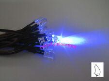 20pcs, 5mm Blue Flicker 9V 12V Pre-Wired Water Clear LED Leds Candle Light 20CM