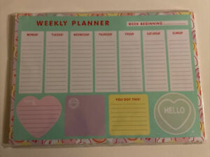 Swizzels Love Hearts A4 Desk Pad Weekly Planner To Do List New Gift