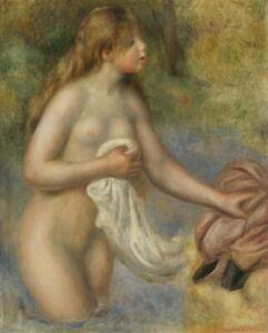 Pierre Auguste Renoir  Naked Girl Bather Painting  A0 A1 A2 A3 A4 Photo Poster