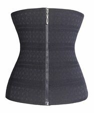 Gotoly Waist Trainer Corset XXL Soft Fabric Hook & Eye Zipper Black US Shipper