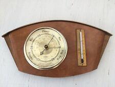 More details for vintage shortland bowen barometer & thermometer british made