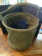 Original U.S. Canvas Jeep Water Collapsible Bucket Bag Canvas