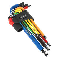 WrightFits Ball End Hex Key Set 9 Pc Color-Coded Metric Allen Key Set 1.5 - 10mm