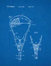 Lacrosse Stick Patent Print Blueprint